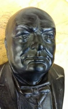 Vintage winston #churchill #plaster #figure - bust ww2 britain figurine statue,  View more on the LINK: 	http://www.zeppy.io/product/gb/2/361686656539/