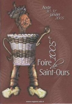 Valle d'Aosta - La Fiera di Sant'Orso (La Foire de Saint Ours) - Aosta - Manifesto 30/31 gennaio 2005