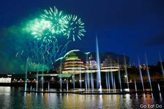 Fireworks display during the opening ceremony of the Great Exhibition of the North.