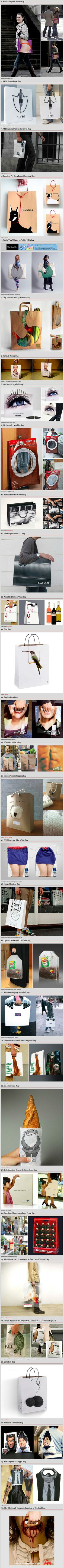When selling a product, its design is one of the most important aspects of its marketability. However, just as important, if not more so, is making sure that your product and your consumers' shopping experience is memorable – and one excellent way to do this is with brilliantly designed shopping bags like these.
