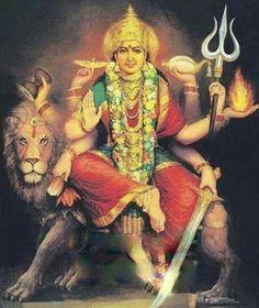 Supreme Goddess Maha Shakthi as Maa Durga (Forms of Goddess Parvati) Shiva Hindu, Shiva Shakti, Hindu Deities, Hindu Art, Indian Goddess, Mother Goddess, Goddess Lakshmi, Lord Durga, Durga Ji