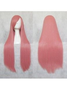 Shop Long Straight Rouge Pink 80cm Cosplay Party Wig at OKmarket.com