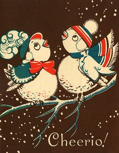 a vintage christmas card i guess?