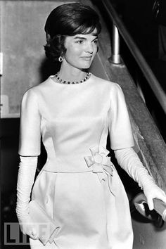 """Born in Southampton, New York, and raised in a cultured, privileged environment -- a newspaper columnist dubbed her 1947's """"debutante of the year"""" -- Jacqueline Lee Bouvier Kennedy Onassis married John Kennedy in September 1953, when she was 24. From that point on, her fate was inextricably bound up with the triumphs and the almost countless tragedies visited upon the Kennedy family. But in January 1961, the future must have seemed bright, and limitless. Above: Jackie Kennedy shines at the…"""