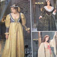 Simplicity-Renaissance-Costume-Pattern-0687-Bodice-Veil-16-20-Uncut-Cosplay-Fair