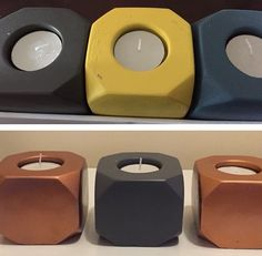 kmart styling with painted tealight holders