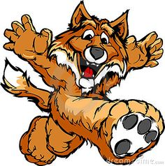 Smiling Fox Running with hands Mascot Illustration