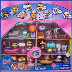 LPS house with 9 pets