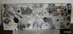 Wall Coat Rack Altered Art Repurposed Eco Friendly by RustIsVogue, $65.00