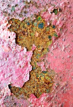Love the colours and texture of this rust on the lid of a metal container