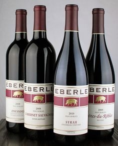 Eberle Winery's lineup of red wines represent the variety and often single vineyard from which they are sourced. All represent the delicious flavors of Paso Robles and the distinct, restrained, food-friendly style of Eberle Winery and Winemaker, Ben Mayo.
