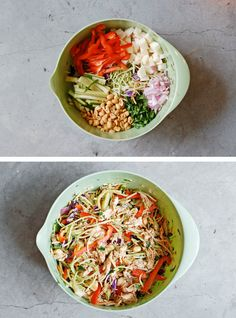 Chopped Asian Chicken Salad - leave out the chicken for vegan.