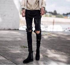 Brand Designer Ripped Jeans for Men High Quality Hip Hop Cool Jeans for men Hot Korean Style jeans