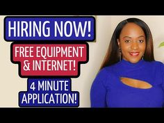 $19 HOURLY! FREE COMPUTER AND INTERNET! NEW WORK FROM HOME JOB! - YouTube Job Coaching, Resume Review, Hiring Now, Flexible Working, Work From Home Jobs, New Work, The Creator, Internet, Free