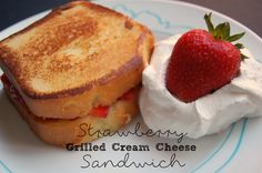 Strawberry Grilled Cream Cheese Sandwich