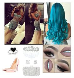 """Prom"" by alilyfe on Polyvore featuring Kevin Jewelers, Christian Louboutin, Natasha Couture and Kate Marie"