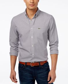 Lacoste Gingham Button-Down Shirt