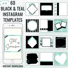 Grab these 60 stunning instagram templates to uplift your instagram account in 2021! Instagram templates on special offer! Instagram Post Templates | Social Media Posts | Canva Templates #instagramtemplates #instagram #instagramposts #templatesinstagram #tealinstagram #canvatemplates #instagrambundle #socialmediaposts #postsforinstagram