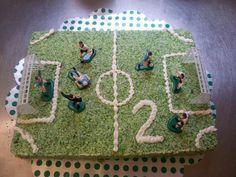fotbalové hřiště s kokosovou zelenou trávou
