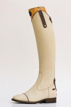 White riding boots
