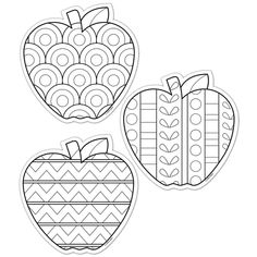 Color Me Apples Designer Cut-Outs 36 pack by Creative Teaching Press Fall Coloring Pages, Apple Coloring, Coloring Books, Creative Teaching Press, Teaching Art, Autumn Crafts, Autumn Art, Drawing For Kids, Art For Kids
