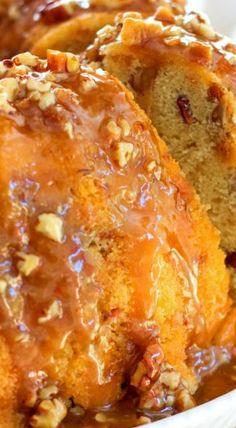 Pecan Praline Buttermilk Pound Cake ~ Decadent!