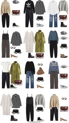 Capsule Wardrobe Casual, Capsule Outfits, Fashion Capsule, Fall Wardrobe, Fashion Outfits, Travel Outfits, Women's Fashion, Fashion Tips, Stylish Summer Outfits