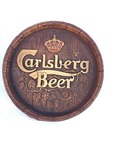 A personal favorite from my Etsy shop https://www.etsy.com/listing/249068357/carlsberg-beer-barrel-sign