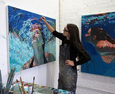 Samantha French in her Brooklyn studio.