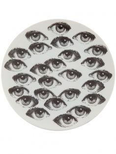 フォルナ・セッティ 円高還元▼FORNA SETTI▼Printed Plate print of a woman's eye | インテリア - キッチン・クッキング - 皿|海外通販ならLASO(ラソ)