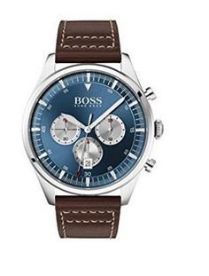 #montre #montredeluxe #luxe #HugoBoss #femme #woman #watch #montres #cuir Montres Hugo Boss, Hugo Boss Homme, Hugo Boss Watches, Fashion Watches, Chronograph, Bracelets, Mens Fashion, Accessories, Clock
