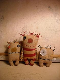 I think I can make ugly monsters! They are adorable
