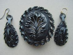 Victorian jet Jewelry information : Morning Glory Jewelry