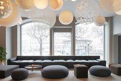 Die Architekten und Designer von Claesson Koivisto Rune haben das Interieur des Nobis Hotels in Stockholm entworfen.