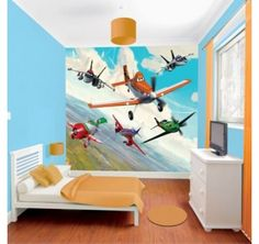 Disney's Planes will be swooping into your childrens' bedroom with this colourful wall mural.  A quick and easy to hang design to give instant colour and fun!