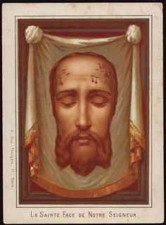 Holy Face Antique Holy Card
