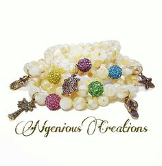 N'Genious Creations Exclusive Take Me To The Beach Stretch Bracelet Set by NGeniousCreations, $40.00