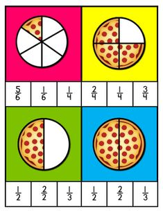 Fraction Games and Activities by Read Like a Rock Star 1st Grade Reading Worksheets, Kindergarten Math Worksheets, First Grade Math, Preschool Math, Math Resources, Teaching Math, Math Activities, Teaching Geography, Math Fractions Worksheets