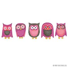 Owl Clip Art - Pink $2.95