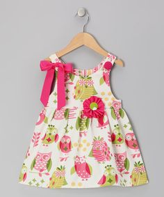 Take a look at this Pink & White Hoot Owls Jamie Mae Dress - Infant & Toddler by Caught Ya Lookin' on #zulily today!