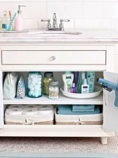 ranger placards salle de bain