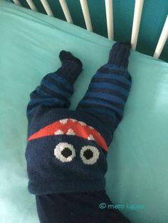 mero lugaa: Anleitung für eine maschinengestrickte Baby-Monsterhose - Instruction for machine knit baby monster pants