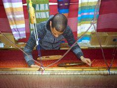 Weaving carpet, Marocco