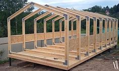 Outdoor Shed Plans Prefab Cabins, Prefab Homes, Firewood Shed, Studio Shed, Modern Barn House, A Frame House, Tiny House Cabin, Wooden House, Shed Plans