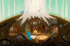 Mr. Fox's den by Katy Wu