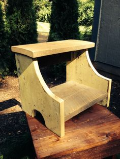 Two Step Reclaimed Wood Step Stool Sturdy To Reach Those Hard To Reach Places
