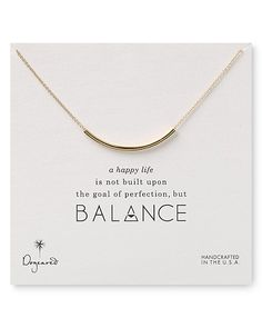 Dogeared Balance Tube Bar Necklace, with extender Necklace featuring curved tube strung on delicate cable chain and arranged on keepsake card Spring-ring clasp Domestic Silver Pendant Necklace, Bar Necklace, Sterling Silver Necklaces, Jewelry Necklaces, Chain Jewelry, Jewlery, Silver Jewelry, Jewelry For Her, Jewelry Ideas