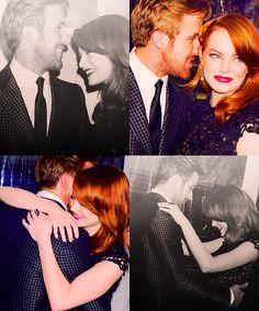 Ryan Gosling and Emma Stone Ryan Gosling Movies, Crazy Stupid Love, Emma Thompson, Star Wars, Romantic Movies, Wedding Photography Poses, Emma Stone, Celebrity Couples, Dreams
