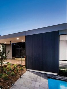 Edge vertical cladding panels from Cemintel have grooves that are very sharp, clean and ready to paint. Timber Panelling, Wall Panelling, Timber Cladding, Cladding Panels, Wall Cladding, External Cladding, Green Facade, Garage Exterior, Outdoor Blinds
