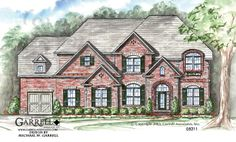 Garrell Associates,Inc. Waverly-Carriage House Plan # 05211, Front Elevation, Traditional Style House Plans, Estate Size House Plans ( 4,073 s.f.) Design by Michael W. Garrell